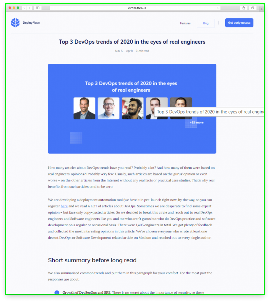 content marketing tech saas